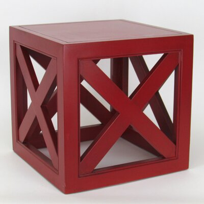 Hunter End Table Finish: Red