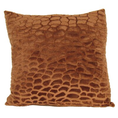 Faux Fur Throw Pillow Color: Orange