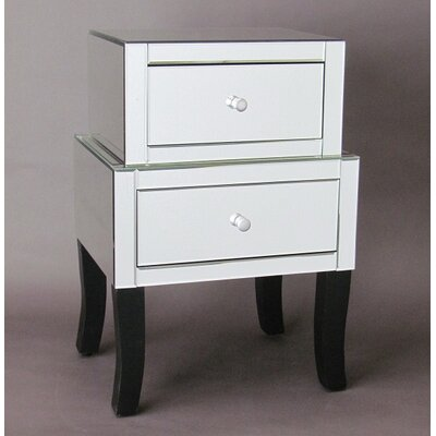 2 Drawer Mirror Chest