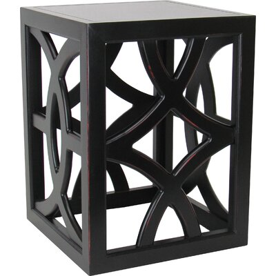 Charleston End Table Color: Antique Black