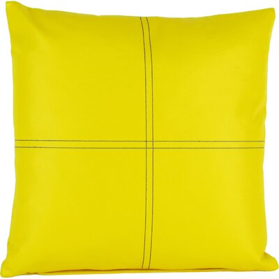 Faux Leather Throw Pillow Color: Yellow