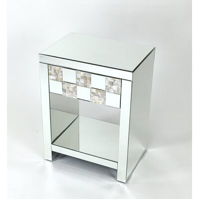 Beveled Mirror Nightstand