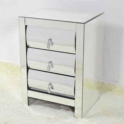 Hot Curve 3 Drawer Nightstand