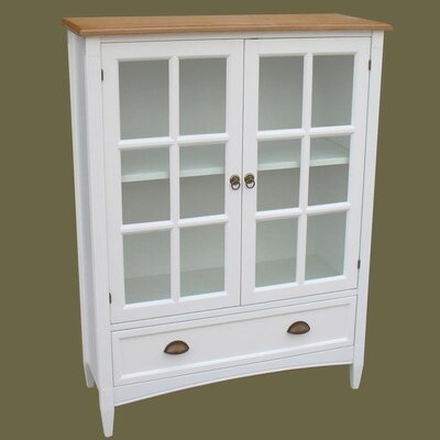 ... Bookcase with Glass Door in Distressed White  Bookcase Mall