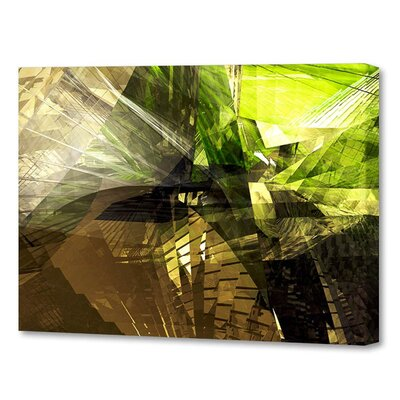 'Chartreuse and Brown' by Scott J. Menaul Graphic Art on Wrapped Canvas Size: 16