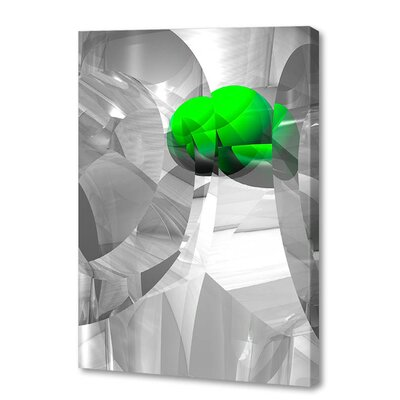 'Shattered Green' by Scott J. Menaul Graphic Art on Wrapped Canvas Size: 54