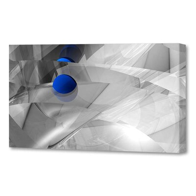 'Shattered Blue Vista' by Scott J. Menaul Graphic Art on Wrapped Canvas Size: 16