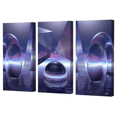 Moonlight Triptych Limited Edition Canvas Set - Scott J. Menaul