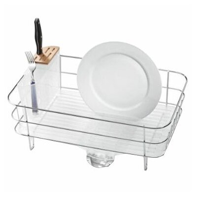 Slim Wire Frame Dishrack, Stainless Steel