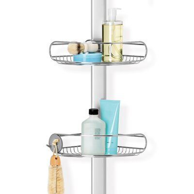 Simplehuman Tension Shower Caddy Stainless Steel Anodized
