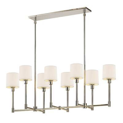 Embassy 8-Light Kitchen Island Pendant Finish: Polished Nickel