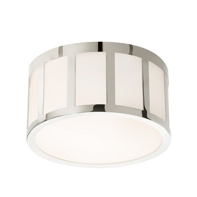 Capital Flush Mount Finish: Polished Nickel, Size: 5.5 H x 9 W x 9 D