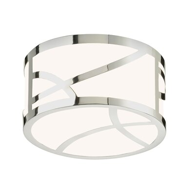 Haiku Flush Mount Finish: Polished Nickel, Size: 4.75 H x 8 W x 8 D
