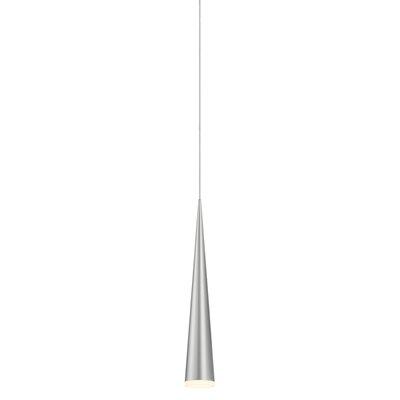 Micro Cone 1-Light Mini Pendant Finish: Bright Satin Aluminum
