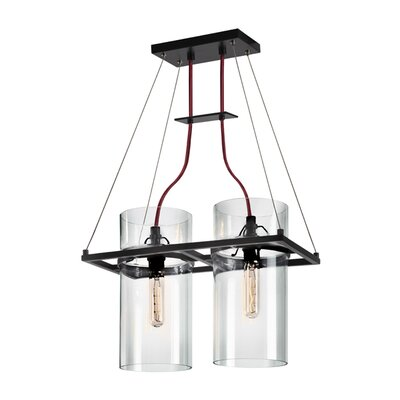 Square Ring 2-Light Kitchen Island Pendant