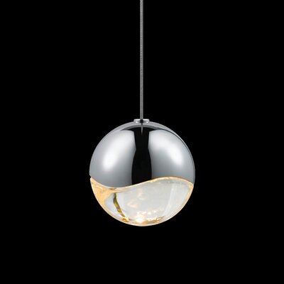 Grapes? 1-Light Globe Pendant Finish: Polished Chrome, Size: Medium