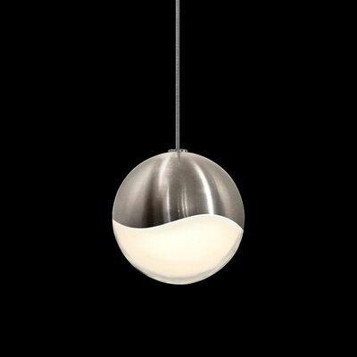 Grapes? 1-Light Globe Pendant Size: Medium, Finish: Satin Nickel