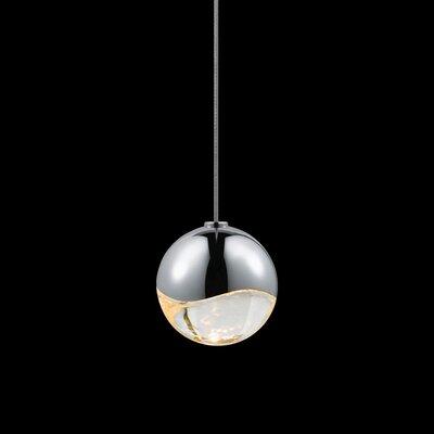 Grapes? 1-Light Globe Pendant Finish: Polished Chrome, Size: Small