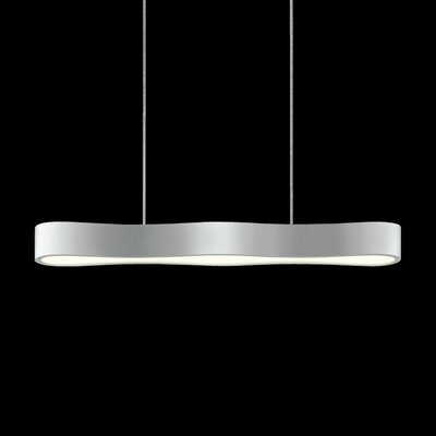 Corso Linear 1-Light Kitchen Island Pendant Finish: Bright Satin Aluminum, Size: 2.25 H x 24 W x 3.25 D