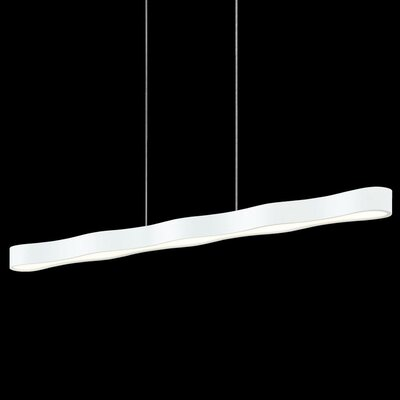 Corso Linear 1-Light Kitchen Island Pendant Finish: Textured White, Size: 2.25 H x 44.75 W x 3.25 D