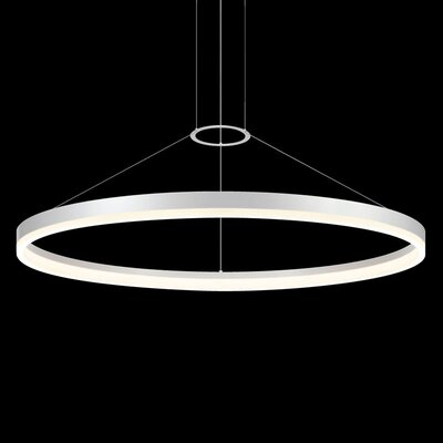 Corona 1-Light Pendant Finish: Bright Satin Aluminum, Size: 48 W