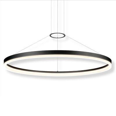 Corona 1-Light Pendant Finish: Satin Black, Size: 48 W