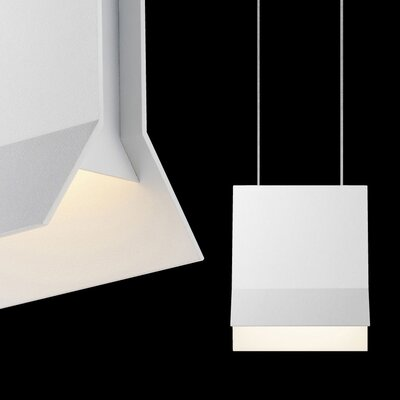 Lambda 1-Light Pendant Finish: Textured White