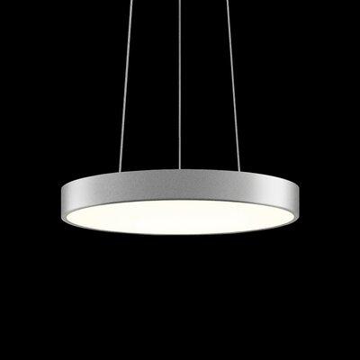 Pi 1-Light Drum Pendant Size: 2 H x 16 W, Finish: Bright Satin Aluminum