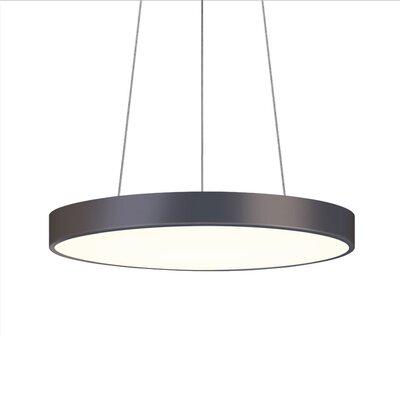 Pi 1-Light Drum Pendant Finish: Black Bronze, Size: 2 H x 20 W