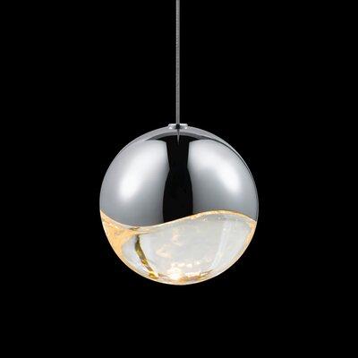 Grapes? 1-Light Globe Pendant Finish: Polished Chrome, Size: Large