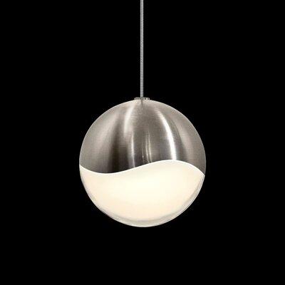 Grapes? 1-Light Globe Pendant Finish: Satin Nickel, Size: Large