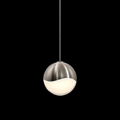 Grapes? 1-Light Globe Pendant Finish: Satin Nickel, Size: Small