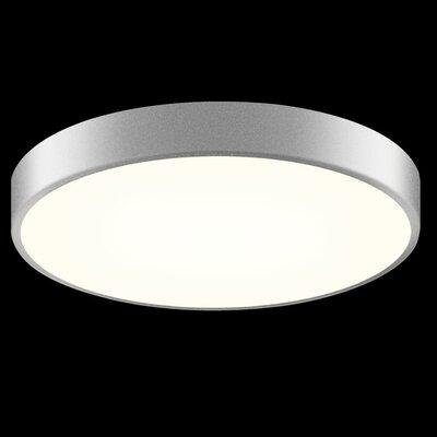 Pi 1-Light Flush Mount Finish: Bright Satin Aluminum, Size: 2 H x 16 W