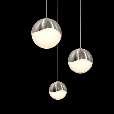 Grapes? 3-Light Globe Pendant Size: Assorted, Finish: Satin Nickel