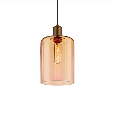 Cloche 1-Light Mini Pendant Shade Color: Smoke Bronze, Size: 12 H x 7 W, Finish: Retro Brass
