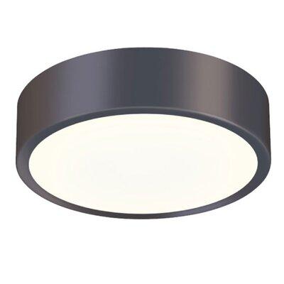 Pi 1-Light Flush Mount Finish: Black Bronze, Size: 2 H x 8 W