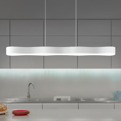 Corso Linear 1-Light Kitchen Island Pendant Finish: Textured White, Size: 2.25 H x 34.5 W x 3.25 D