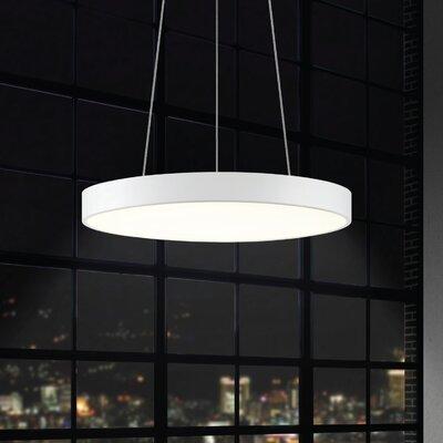 Pi 1-Light Drum Pendant Finish: Textured White, Size: 2 H x 20 W