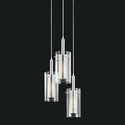 Zylinder Contemporary 3-Light Foyer Pendant