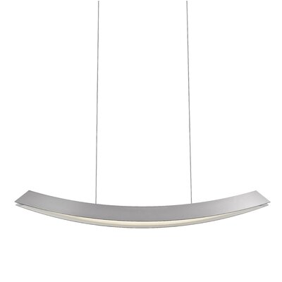 Kabu Kitchen Island Pendant Finish: Bright Satin Aluminum