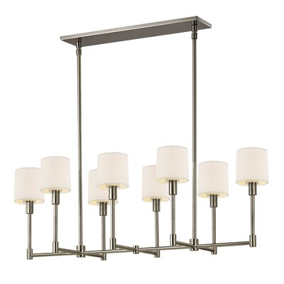 Embassy 8-Light Kitchen Island Pendant Finish: Satin Nickel