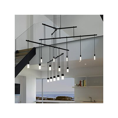 Suspenders 15-Light Cascasde Pendant