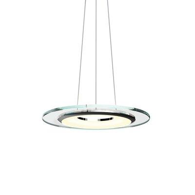 Krause 1-Light LED Geometric Pendant Finish: Polished Chrome, Size: 1.25 H 18 W x 18 D