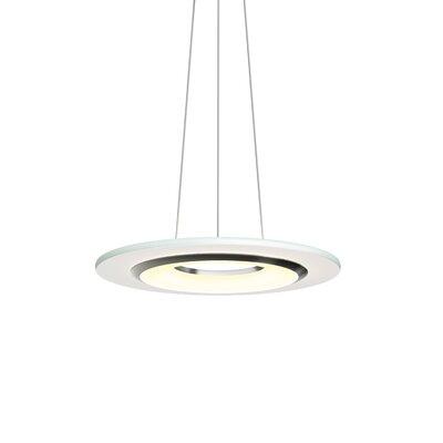 Krause 1-Light LED Geometric Pendant Size: 1.25 H 18 W x 18 D, Finish: Satin Nickel