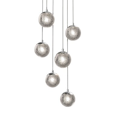 Mata 6-Light LED Cascade Pendant