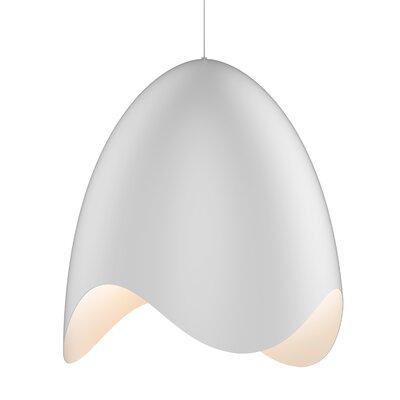 Frazier Bell 1-Light LED Inverted Pendant Finish: Satin White/White