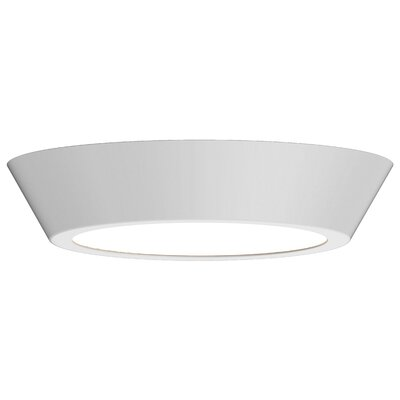 Dougherty 1-Light LED Flush Mount Finish: Satin White