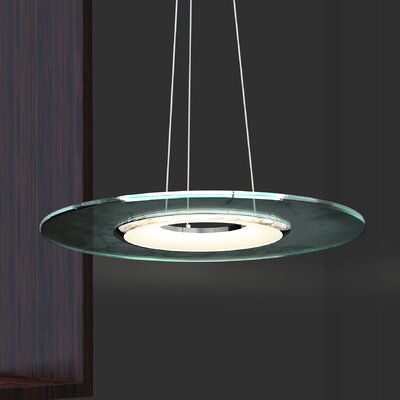 Krause 1-Light LED Geometric Pendant Finish: Polished Chrome, Size: 1.25 H 18 W x 18 D