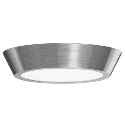 Dougherty 1-Light LED Flush Mount Finish: Satin Nickel