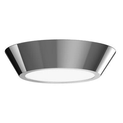Dougherty 1-Light LED Flush Mount Finish: Polished Nickel